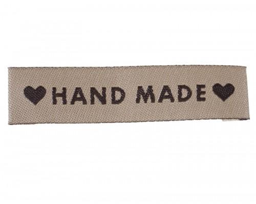 """Лейбл тканевый """"Hand made"""", 1 шт."""