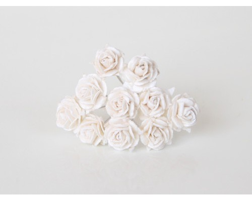 """Розы """"Белые-белые"""",  1 см, 10шт."""