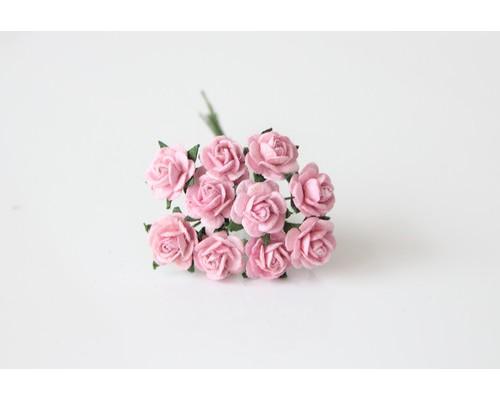 """розы """"Св. розовый"""",  1 см, 10шт."""