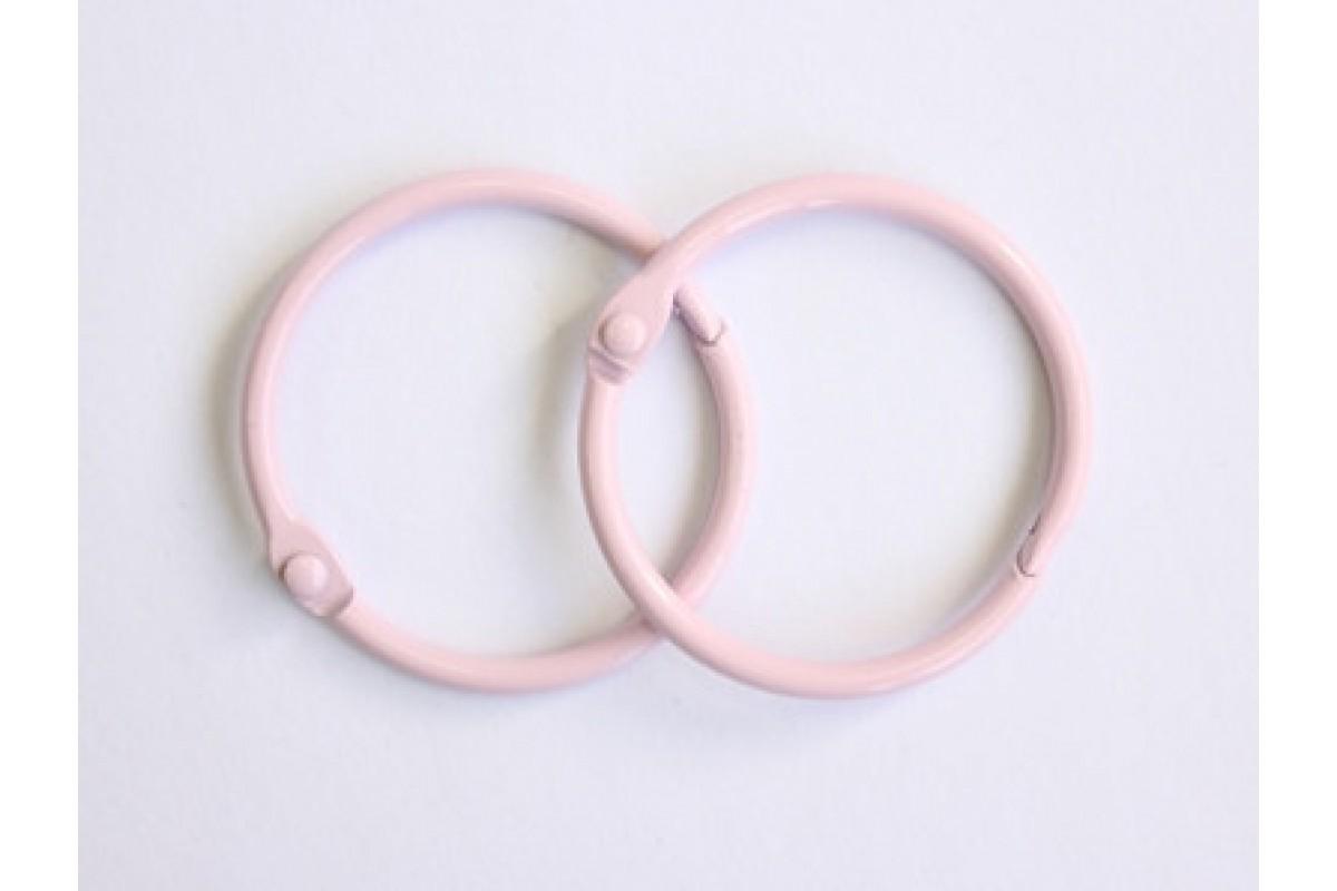Кольца 3 см. розовые, 2 шт