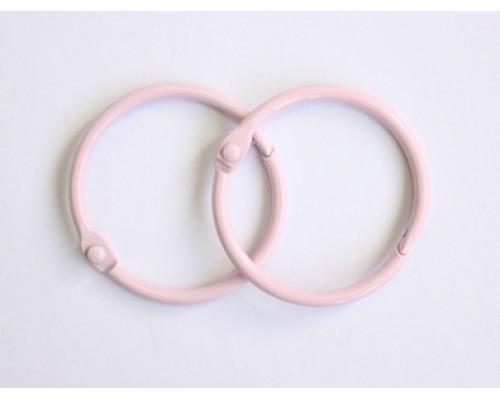 Кольца 2,5 см. розовые, 2 шт