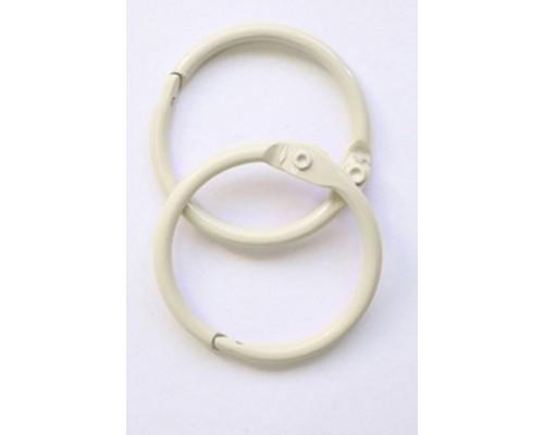 Кольца 3,5 см. слоновая кость, 2 шт