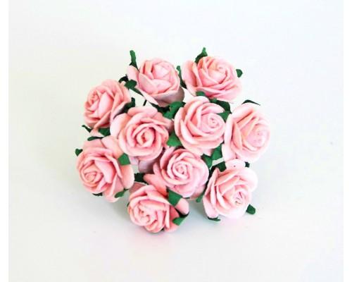 Розы розово-персиковые 2 см, 5 шт.