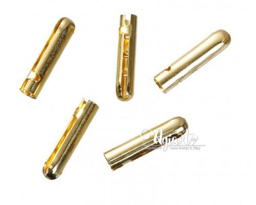 Металлический наконечник для резинок, золото, 5 шт