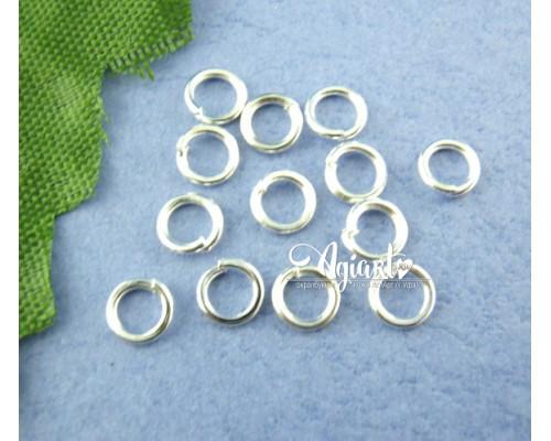 Металлическое соединительное кольцо, серебро, 20 шт