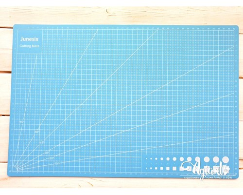 "Коврик (мат) для резки ""Голубой"" А3 - 45*30 см."
