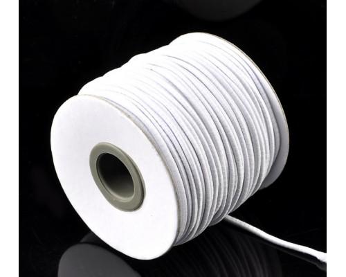 Резинка для блокнотов, альбомов белая 2 мм, 1 м