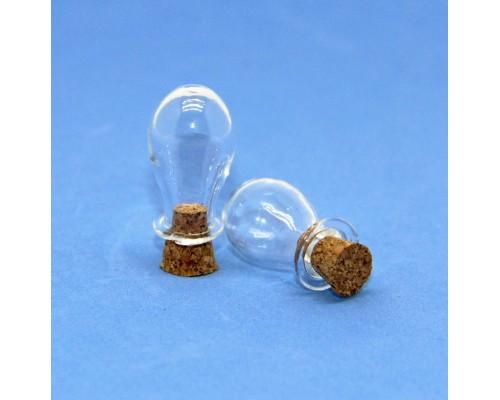 Стеклянные бутылочки с пробкой Рукоделие™ 1,5мл (15мм х 24мм), 1шт.