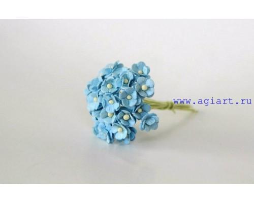 """Цветы вишни МИНИ """"Голубые"""", 25 шт"""