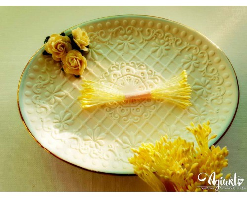 Тычинки МИНИ Бледно-желтые, каплевидные, 1 пучок