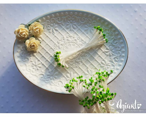 Тычинки Бело-зеленые, каплевидные, 1 пучок