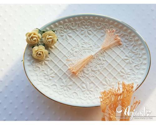Тычинки МИНИ Персиковые пастельные, 1 пучок