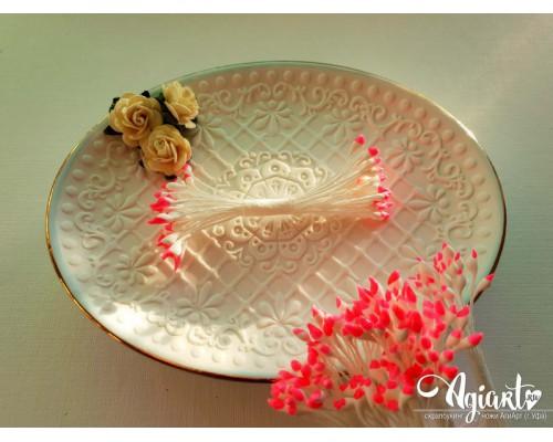 Тычинки Бело-розовые, каплевидные, 1 пучок