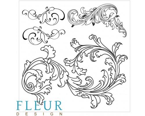 """Набор штампов """"Винтажные завитки"""" FLEUR-design"""