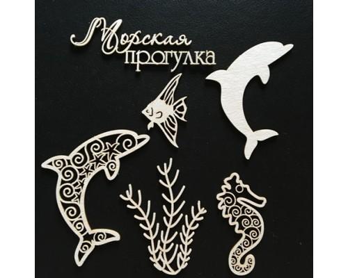 """Чипборд """"Рыбки"""" Fleur design"""