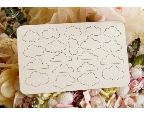 "Чипборд ""Малютки облачка"". Скрапля"