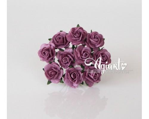 Розы Сиреневый теплый 1,5 см, 10шт.