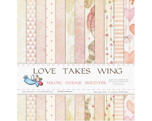 "Набор бумаги ""Love takes wing"" 1/2, 6 листов"