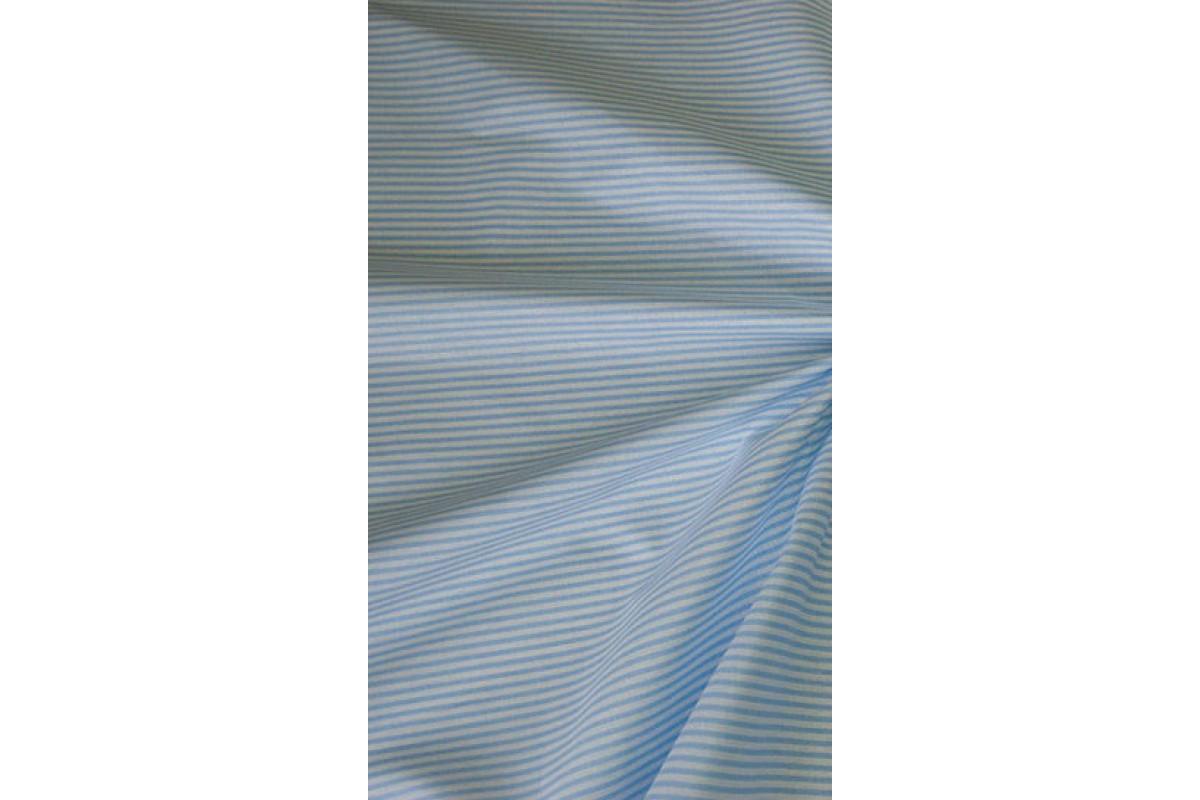 """Ткань """"Полоска голубая"""", бязь, 50*75 см"""