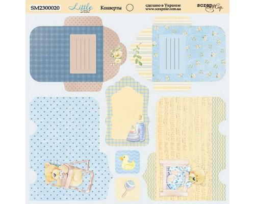 """Лист с конвертами коллекция """"Little Bear"""" 20*20 см ScrapМир"""