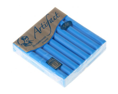 """Пластика (полимерная глина) """"Классический голубой 164"""" брус 56 г Artifact"""