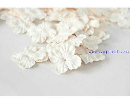 Гортензии белые 2,5 см 10 шт