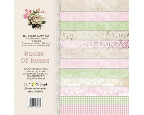 "Набор бумаги ""House of Roses BASIC"" 30*30 см - 6 листов (1/2 набора) Lemoncraft"