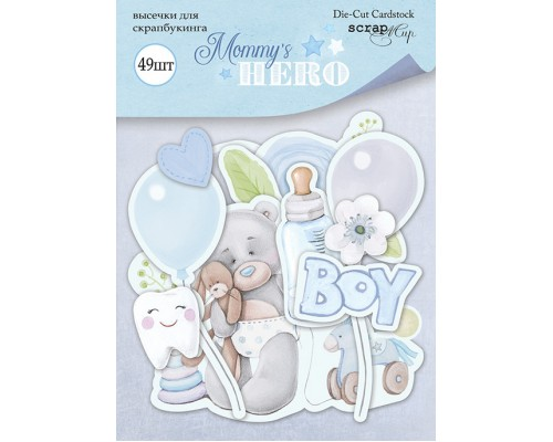 "Высечки бумажные ""Mommy's Hero"" Scrapmir"
