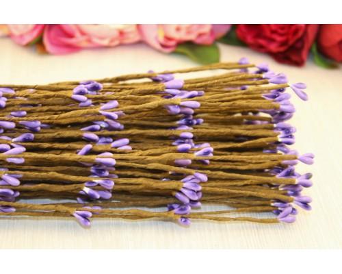 Декоративные веточки с фиолетовыми ягодками, 40 см., 5 шт.
