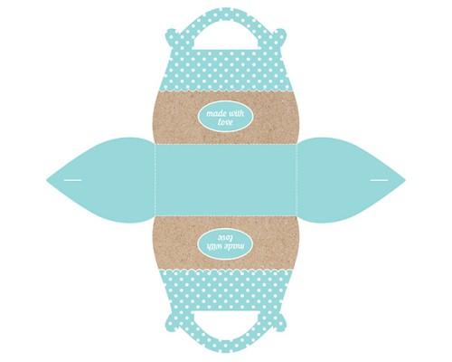 Подарочная коробочка Саквояж Made With Love Blue, 2 шт в уп