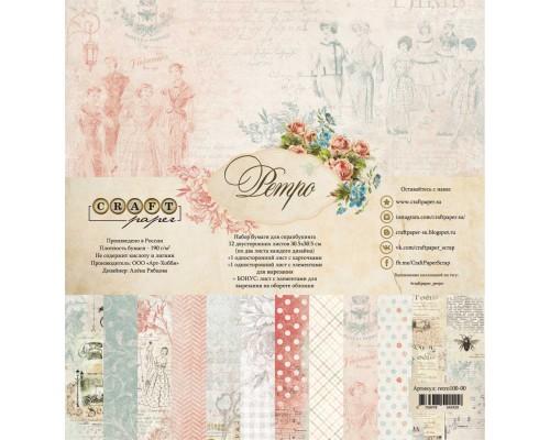 """Набор бумаги """"Ретро"""" 30,5*30,5 см Craft paper"""