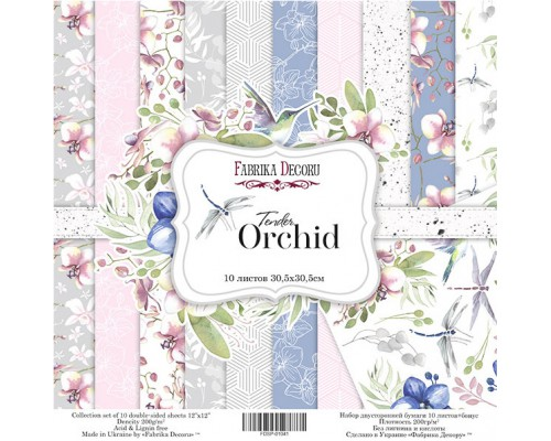 "Набор бумаги ""Tender orchid"", 30,5*30,5см., Фабрика Декора"
