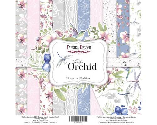 "Набор бумаги ""Tender orchid"", 20*20 см., Фабрика Декора"