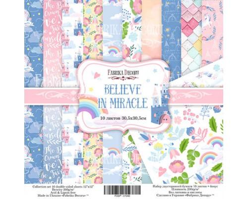 """Набор бумаги """"Believe in miracle"""", 30,5*30,5см., Фабрика Декора"""
