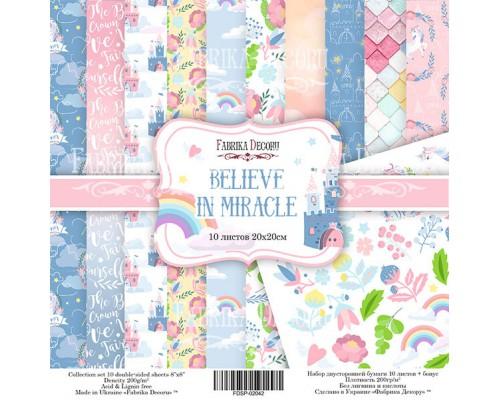 """Набор бумаги """"Believe in miracle"""", 20*20 см., Фабрика Декора"""