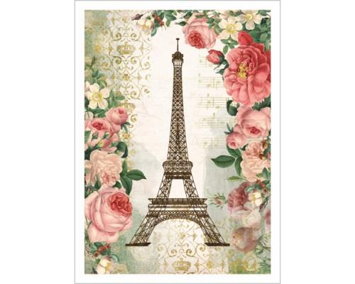 """Тканевая карточка """"Сад герцогини. Париж"""", ScrapMania"""