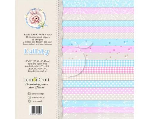 """Набор бумаги BASIC """"Lullaby"""" 30*30 см, 9 листов (1/2 набора), LemonCraft"""