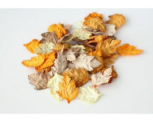 """Листья """"Коричневый микс шиповник"""", 4*2,5 см, 10шт"""