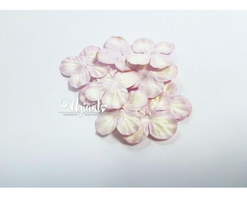 Гортензии бело-сиреневые 2,5 см 10 шт