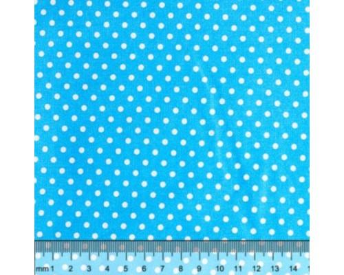 """Ткань для рукоделия 50*50см, 100% хлопок, серия """"Горох голубой"""""""