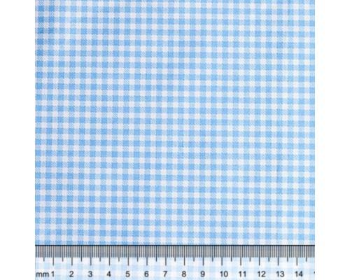 """Ткань для рукоделия 50*50см, 100% хлопок, серия """"Клетка голубая"""""""