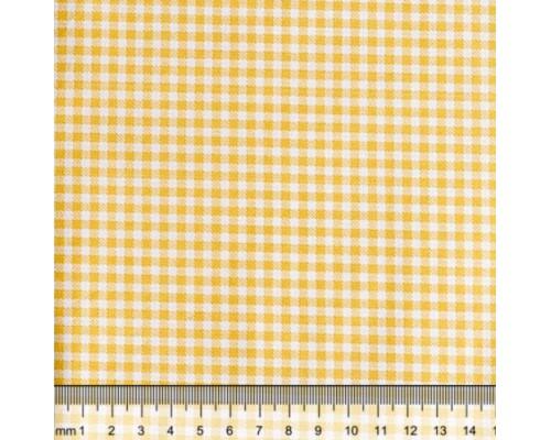 """Ткань для рукоделия 50*50см, 100% хлопок, серия """"Клетка желтая"""""""