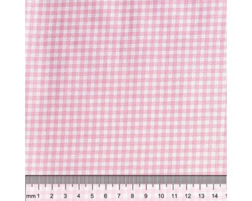 """Ткань для рукоделия 50*50см, 100% хлопок, серия """"Клетка розовая"""""""