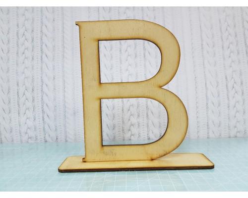 """Деревянная интерьерная буква """"В"""""""