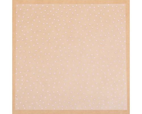 """Ацетатный лист """"Розовый горошек"""" 30,5*30,5 см, АртУзор"""