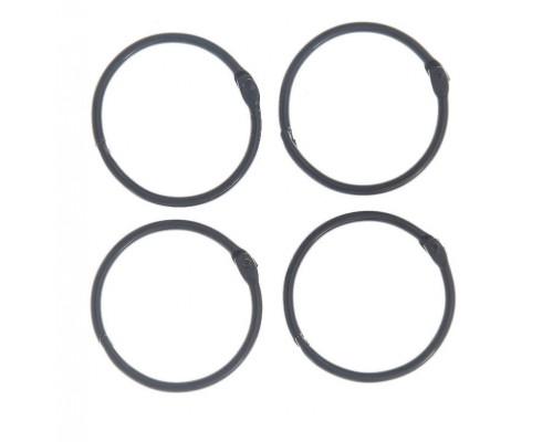 Кольца 4,5 см. черные, 2 шт