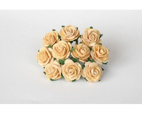 Розы Св. персиковые 2 см, 5 шт.