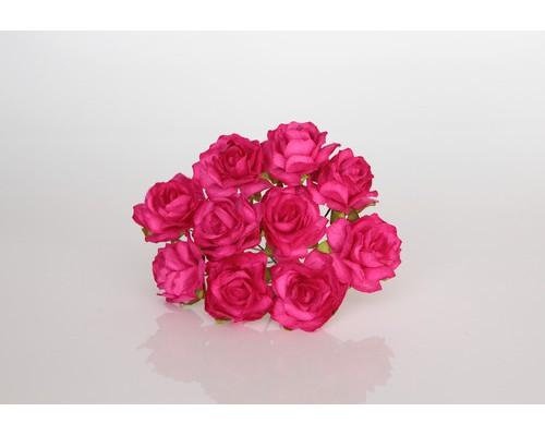 Кудрявые розы 3 см - Фуксия , 5 шт