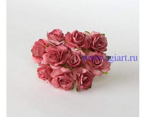 Кудрявые розы 2 см - Каштановые, 5 шт