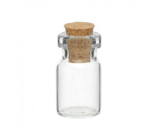 бутылочка стеклянная средняя, 45*22 мм 1 шт